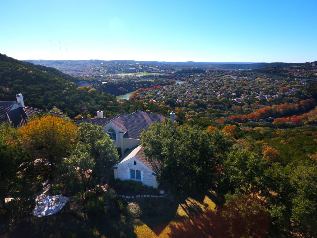 This amazing panoramic view of lake austin could be yours for High country motors mountain home ar