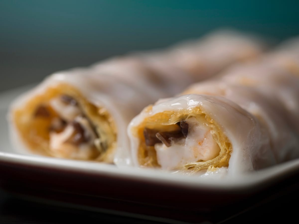Yauatcha prawn bean curd cheung fun