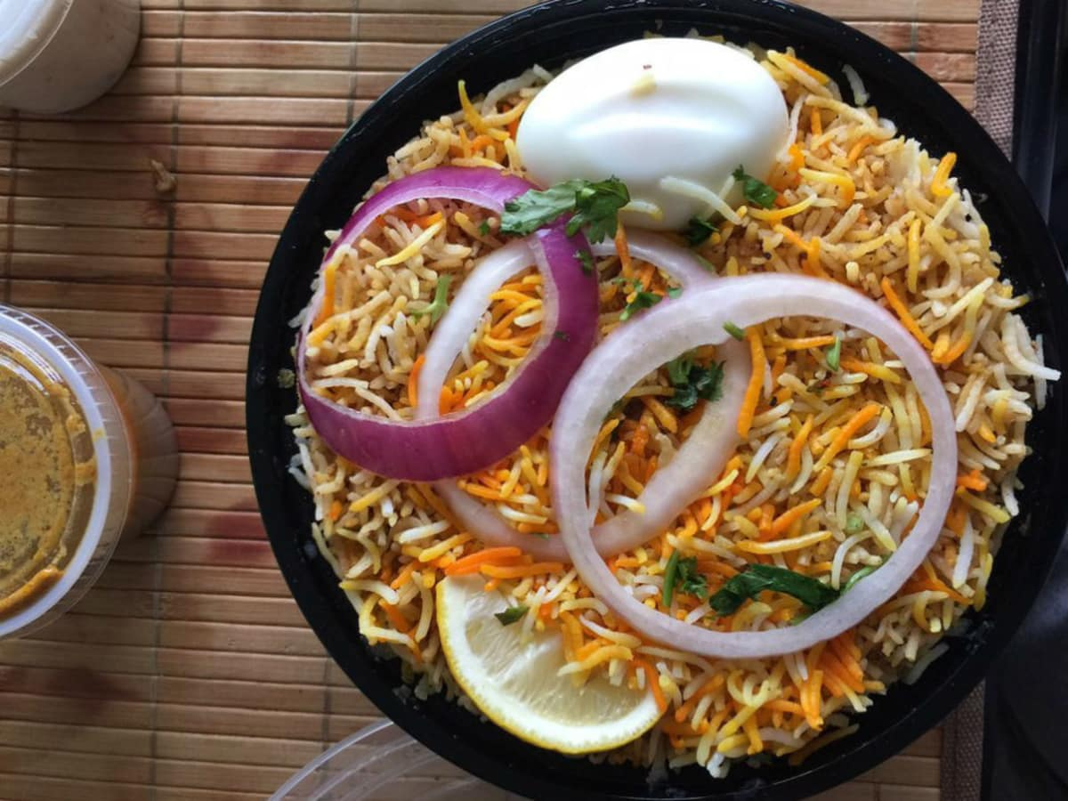 Biryani at Tabla restaurant in Plano