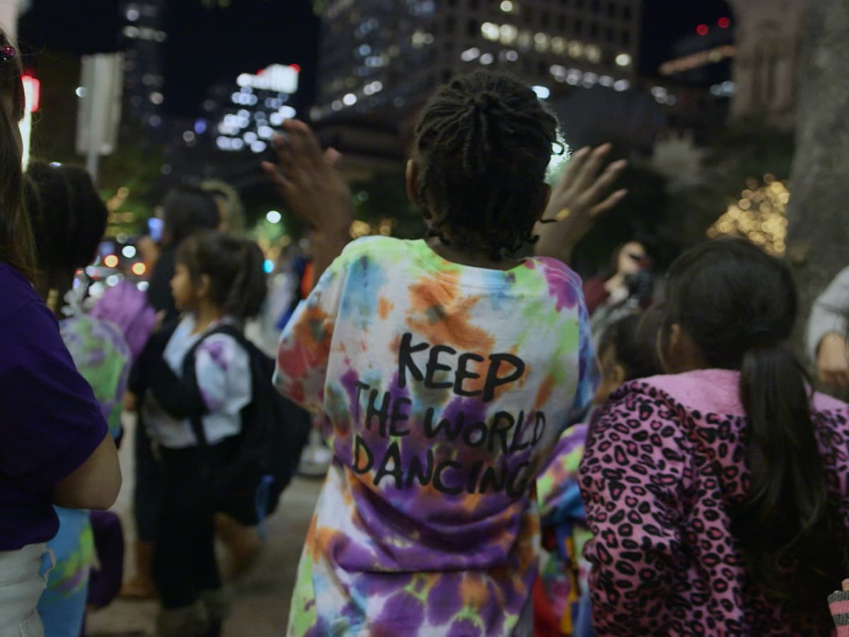 KLRU PBS Arts in Context Dance Another World students street