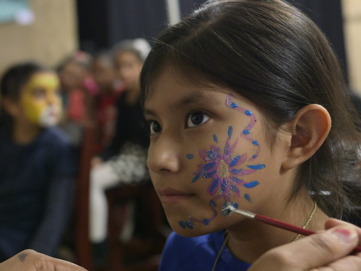 KLRU PBS Arts in Context Dance Another World student face painting makeup