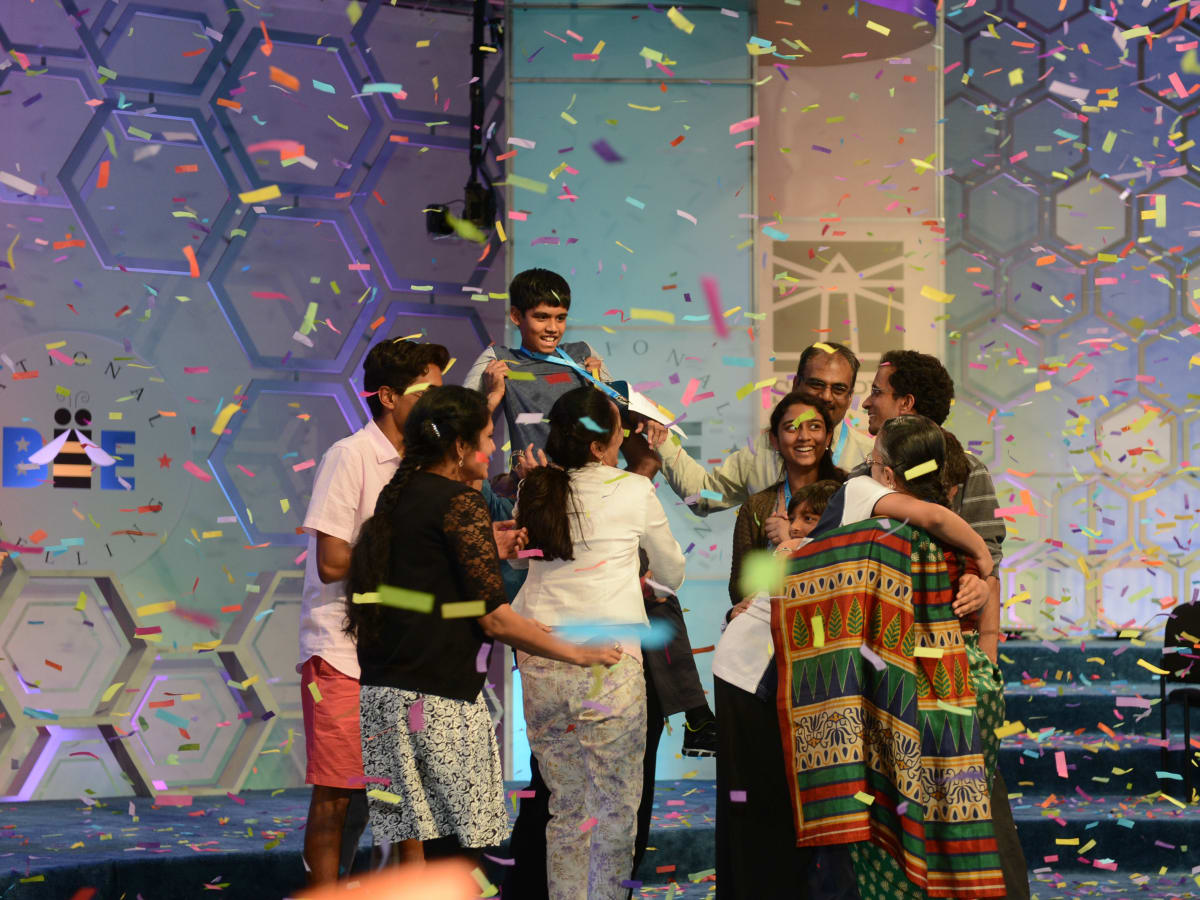 2016 Scripps National Spelling Bee Nihar Janga and family