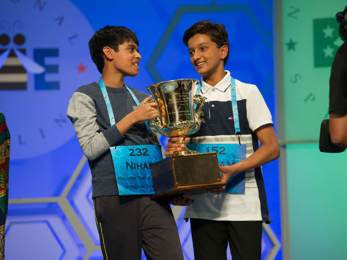 2016 Scripps National Spelling Bee Nihar Janga and Jairam Hathwar