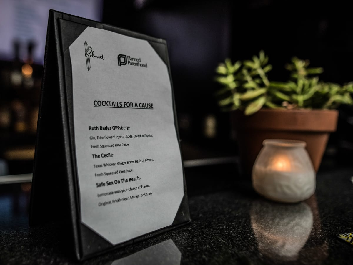 Planned Parenthood Cocktails for a Cause 2016 drink menu