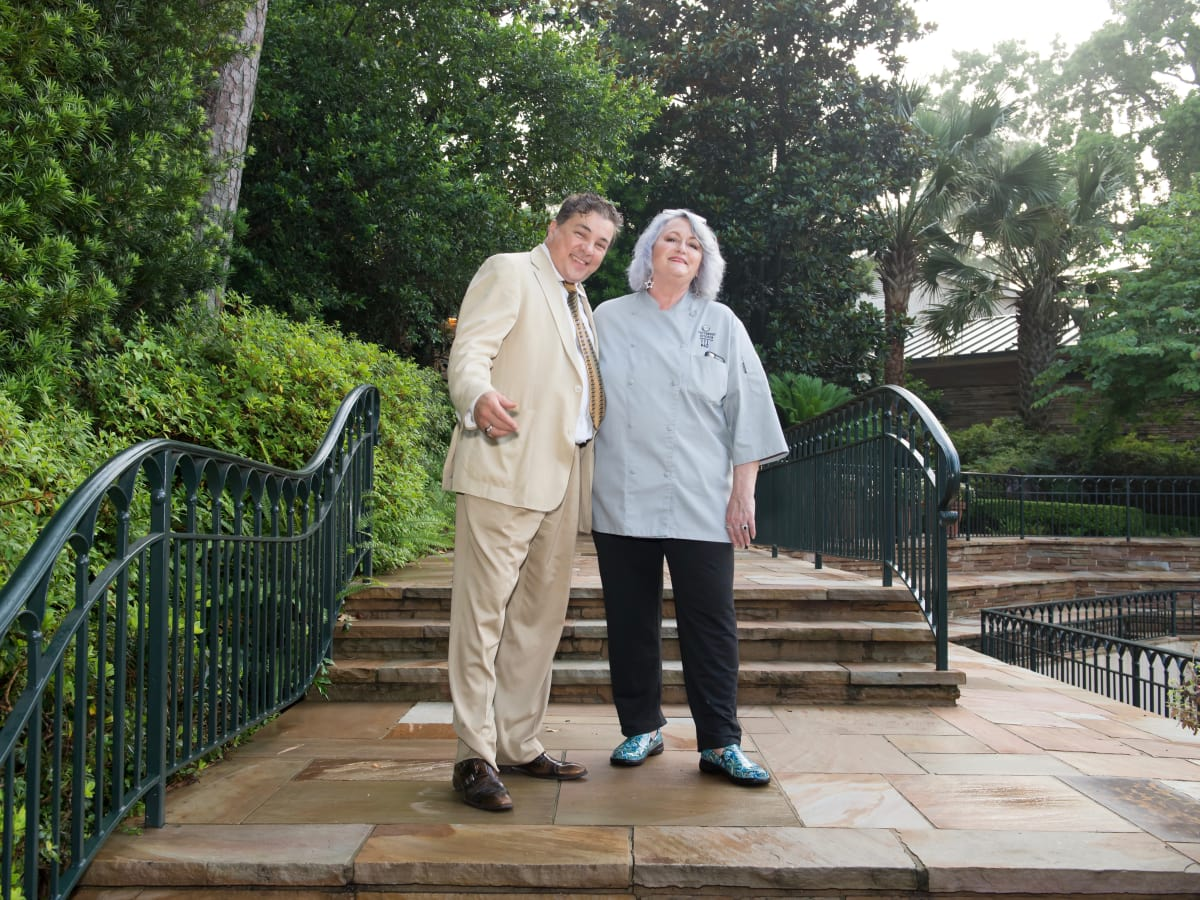 El Meson chef Pedro Garcia and Food Network's Nancy Manlove at Steele party