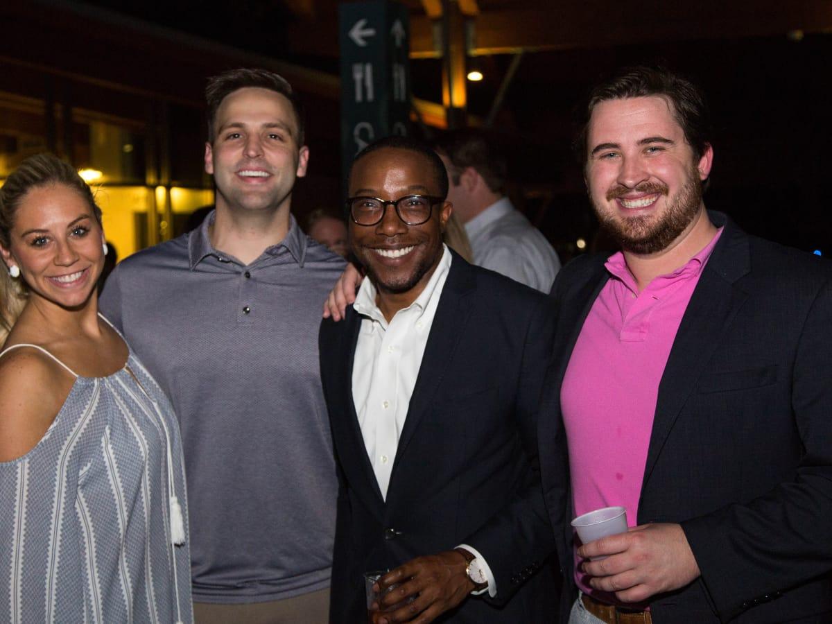 Courtney Rosen, John Kovach, Arthur Bryan II, Andrew Scheller at Urban Green Overboard party