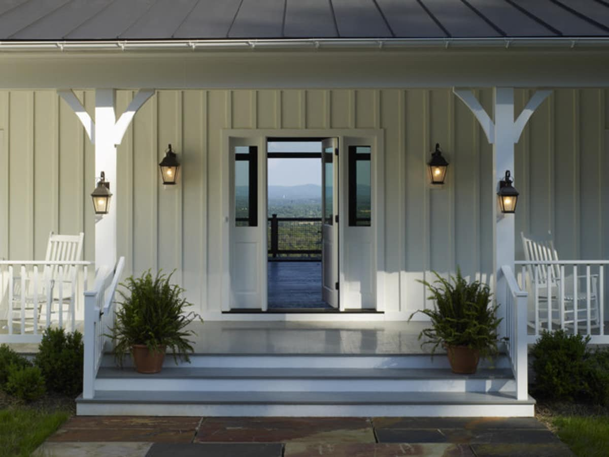 Farmhouse front door Houzz