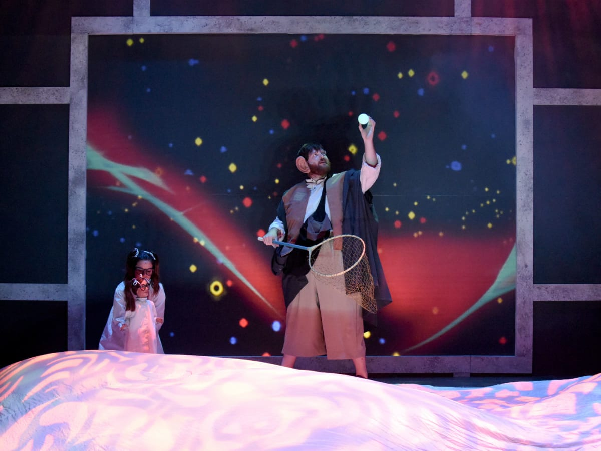 Faye Austin and Nathaniel P. Reid in Dallas Children's Theater's The BFG