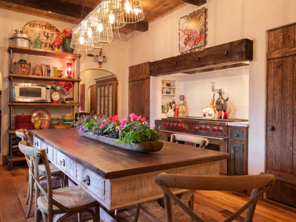 Dallas University Park home Houzz tour farmhouse kitchen