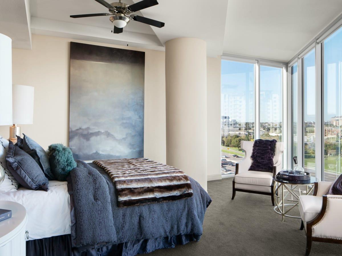 Bedroom at AMLI Design District in Dallas
