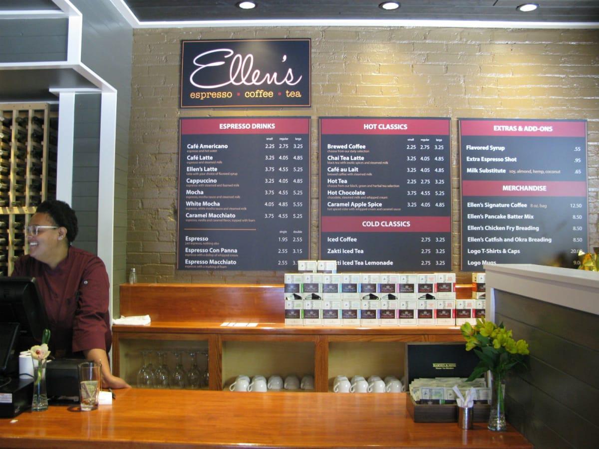 Ellen's Southern Kitchen coffee bar