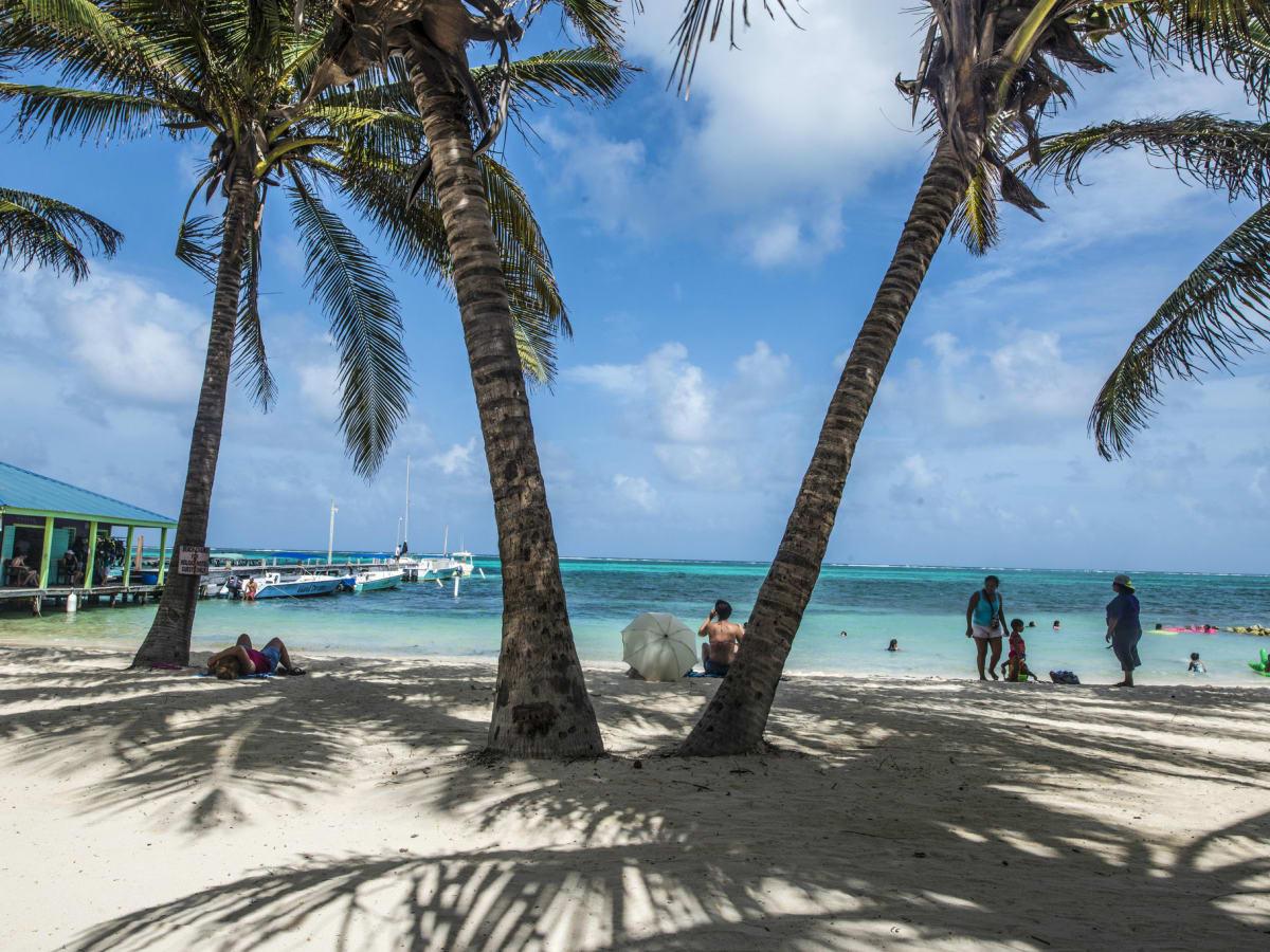Belize beach scene