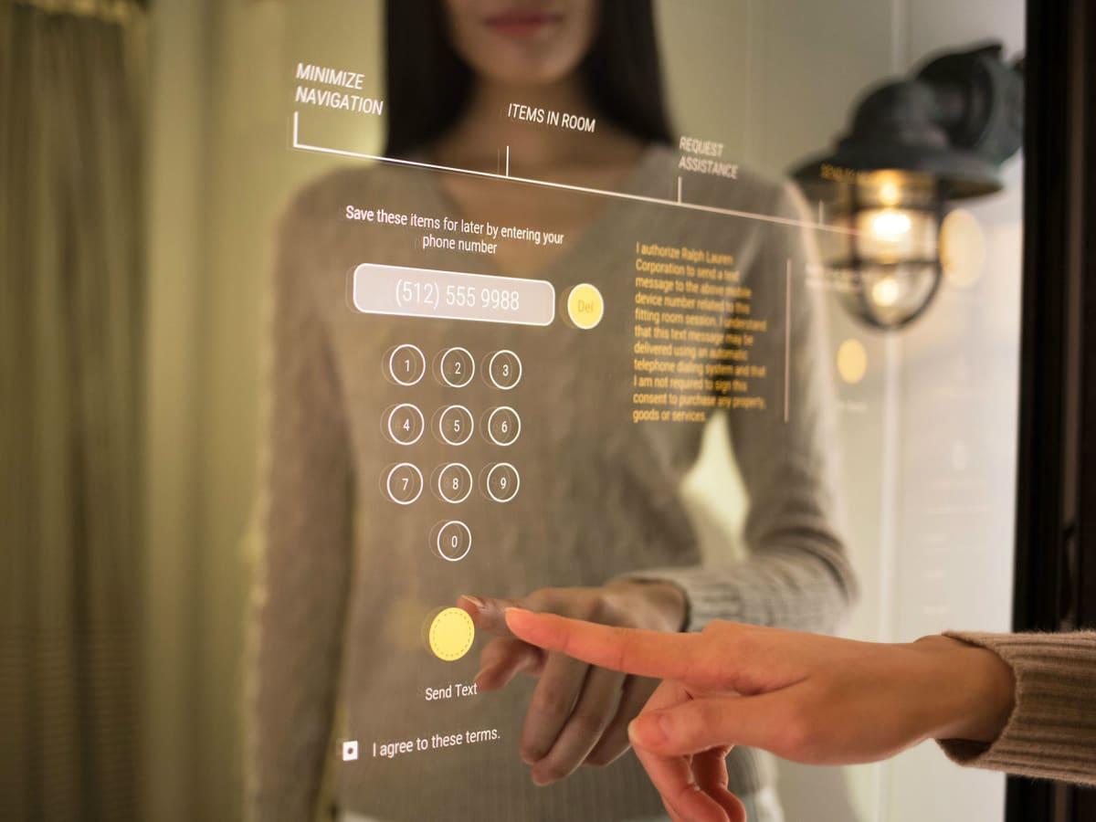 Interactive mirror at Polo Ralph Lauren