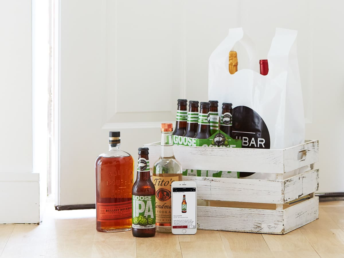Minibar alcohol delivery