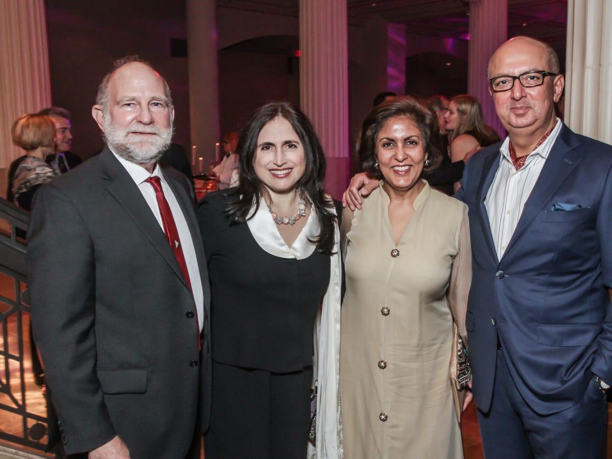 John Eldridge, Annette Eldridge, Dvika Ramchandani, Mahesh Ramchandani at Club da Camera