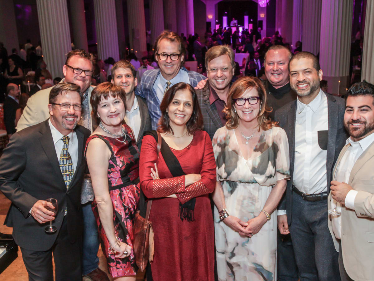 Chefs with Robert del Grande, Kipp Baxter, Carolyn Prio Landen and Jason Moran at Club da Camera