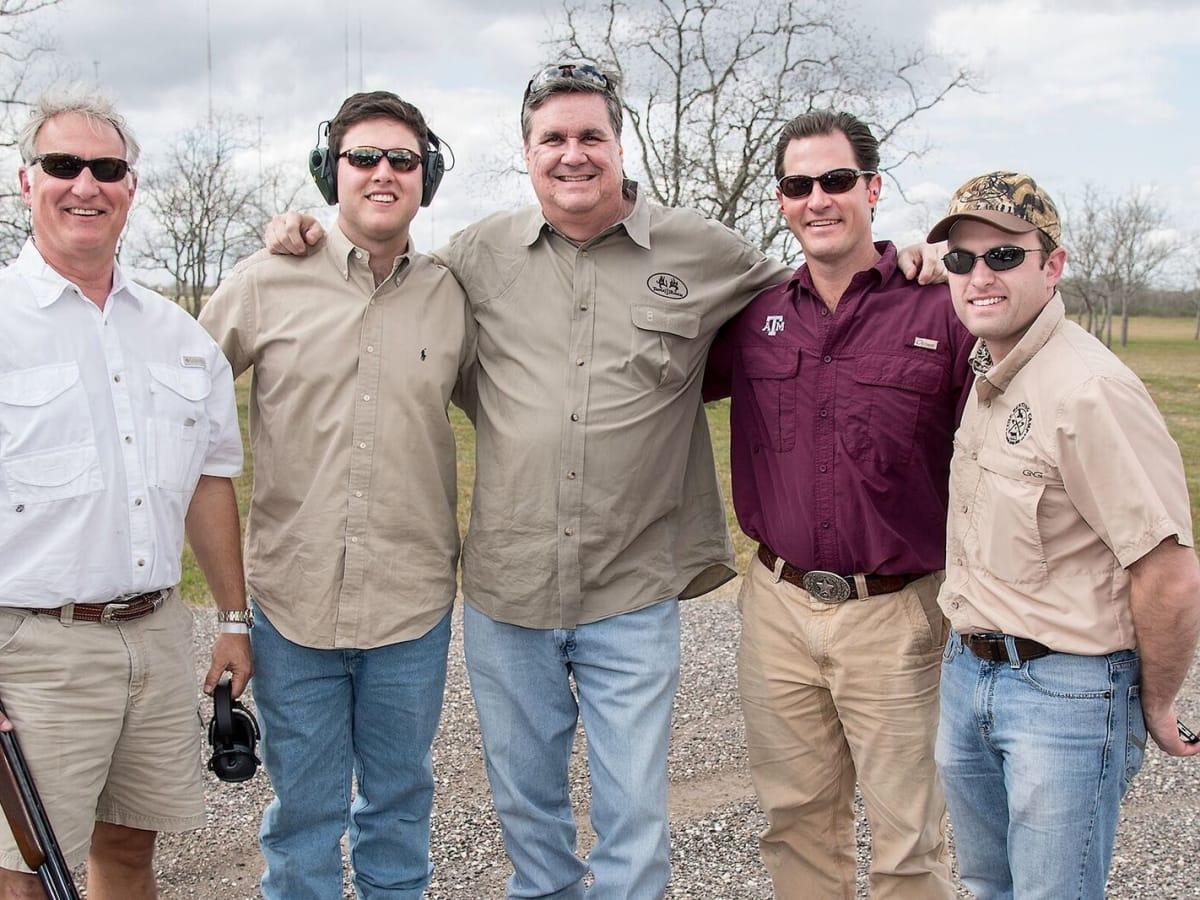 Trey Strake, G Strake, Perry Hicks, Lucian Bukowski, Jason Johnson at Memorial Hermann Clay Shoot