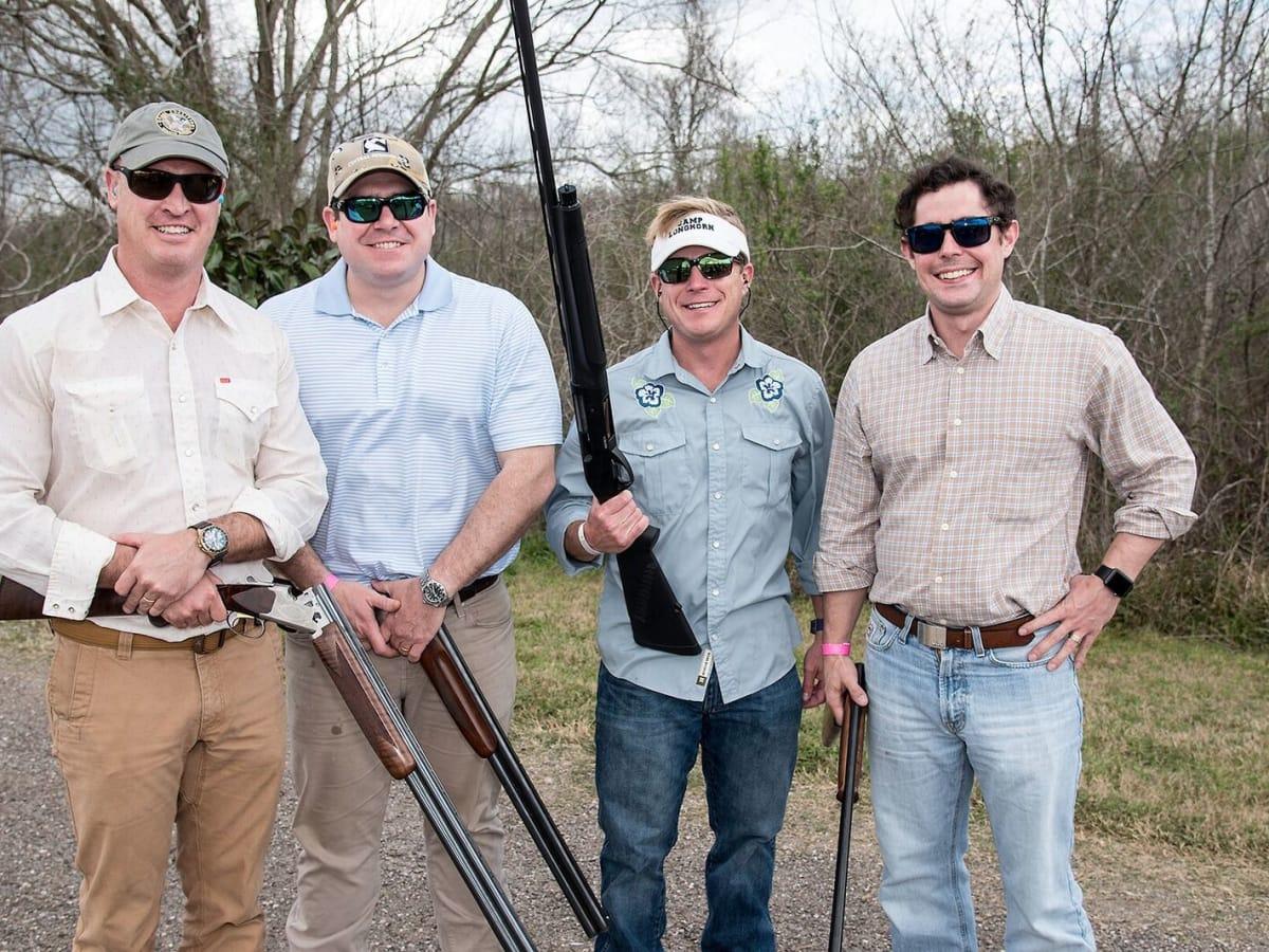 Jonathan Moseley, Todd Moore, Matt Strange, Max Mischer at Memorial Hermann Clay Shoot