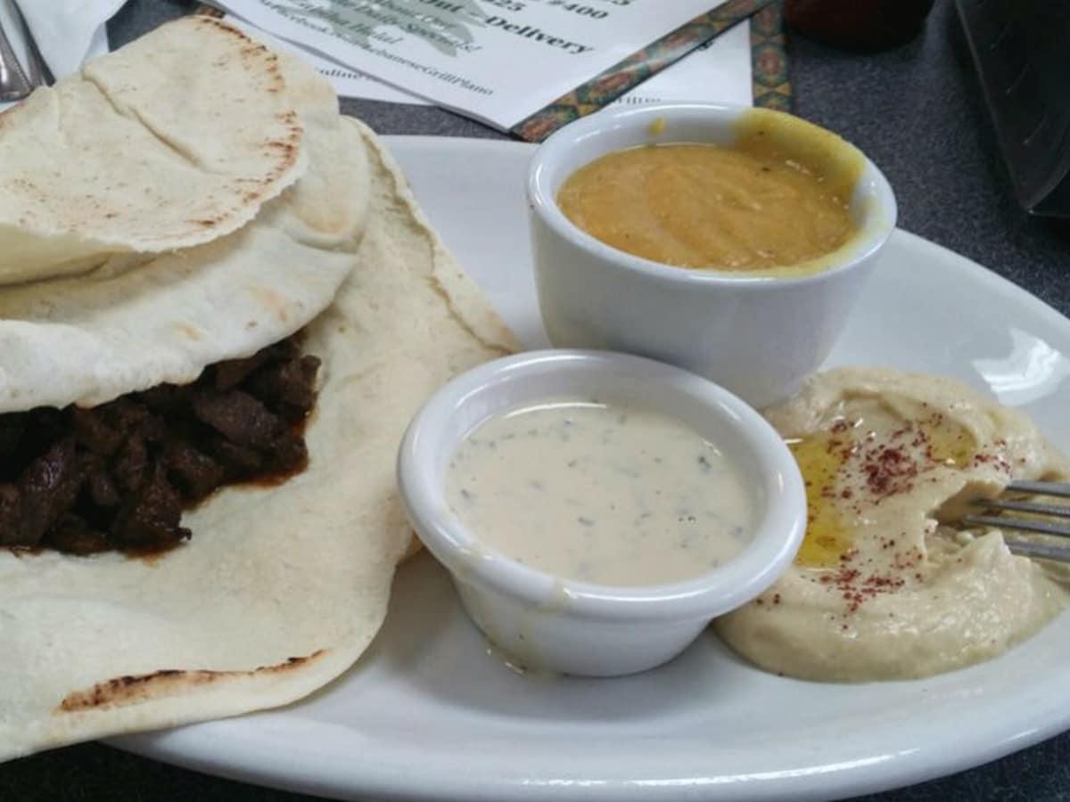Lebanese GrillBeef shawama, hommous & lentil sou