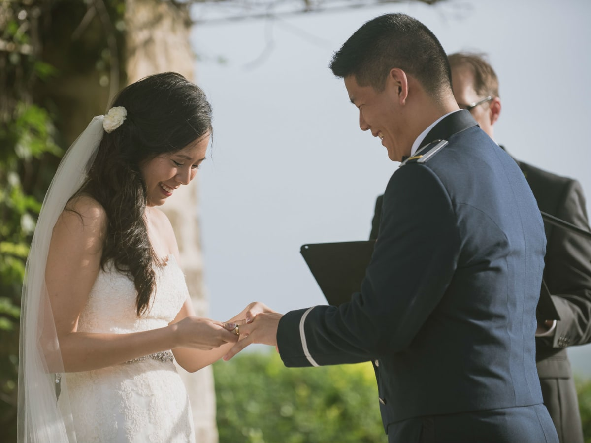 Pauline and Dayle Chang ring exchange