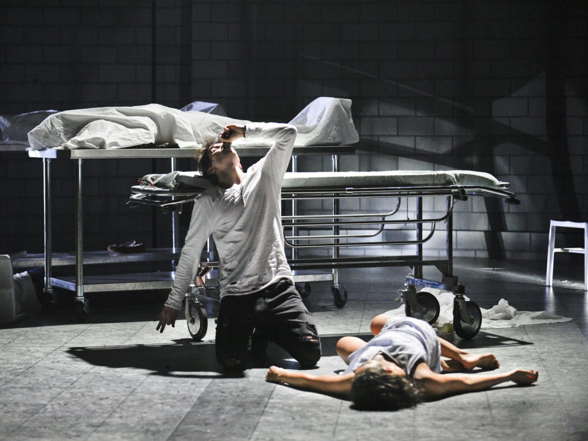 Jake Horowitz and Kerry Warren in Dallas Theater Center's Romeo and Juliet
