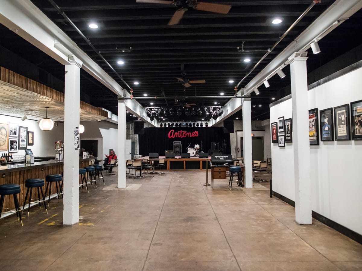 Antone's downtown venue Fifth Street 2016 stage interior wide shot