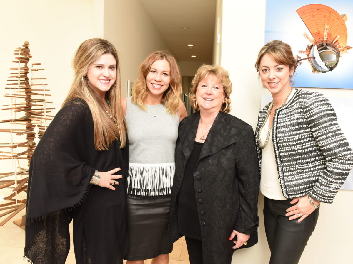 News, Children's Assessment Center tea, Dec. 2015,  Price DuBose, Allison Flikerski, Betty DuBose and Lauren Maloy