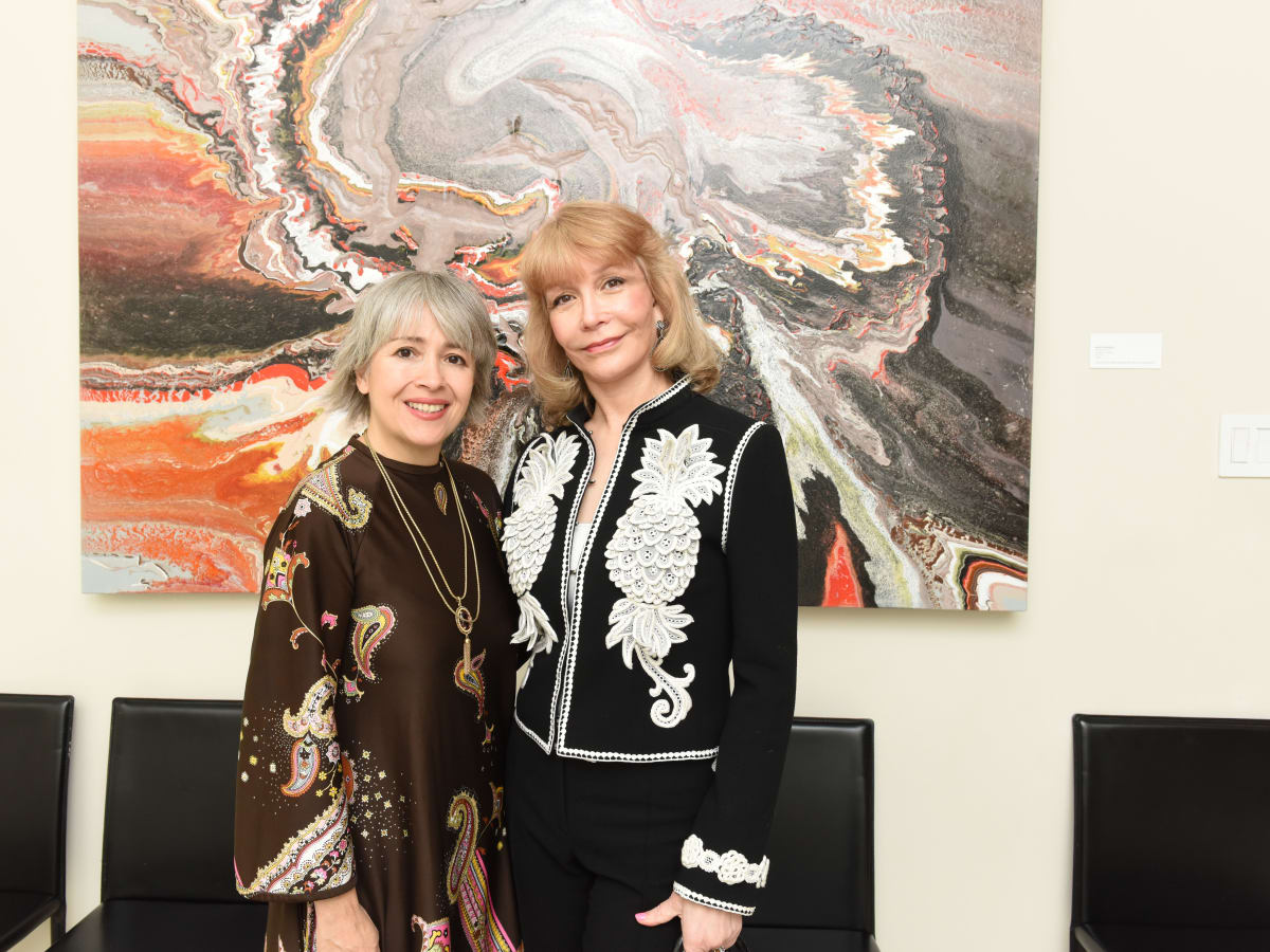 News, Children's Assessment Center tea, Dec. 2015,  Yvonamor Palix and Susan Boggio