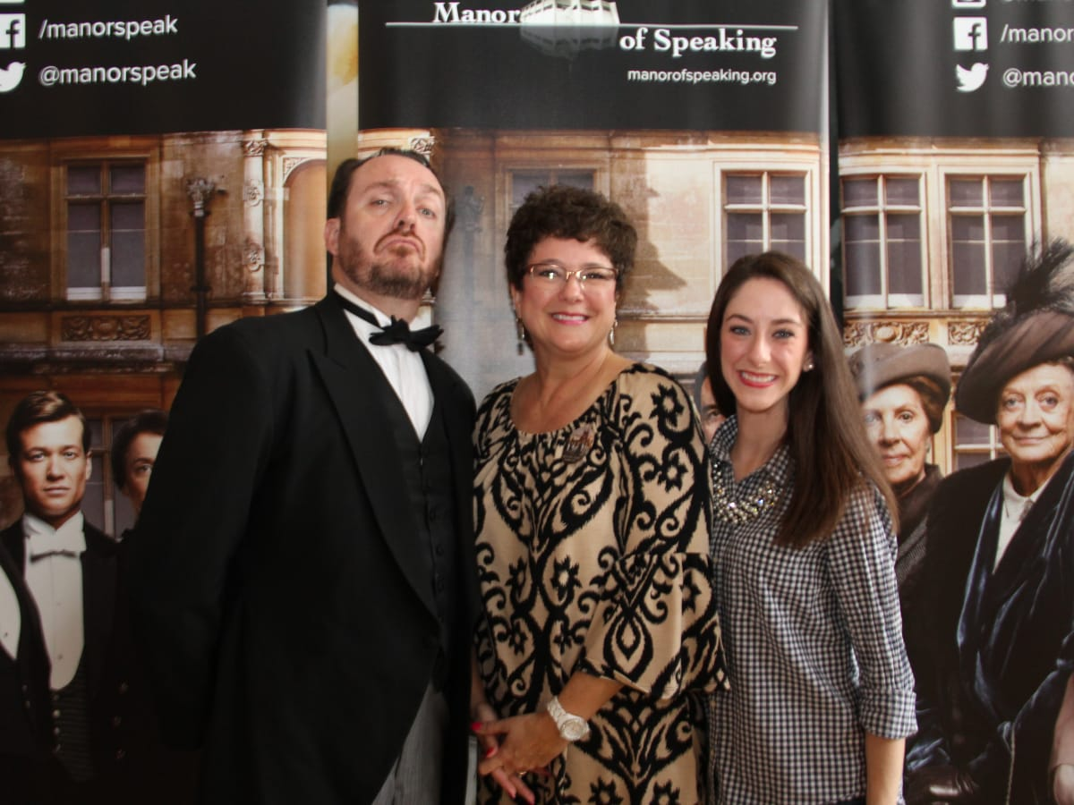 Mister Rodgers from Manor of Speaking,͟ with Kim and Taylor Newhouse at Downton Abbey sneak peek