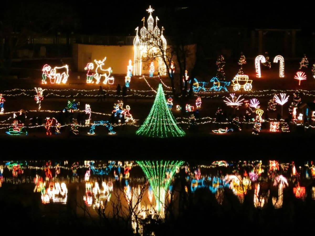 Marble Falls Walkway of Lights Christmas holiday display
