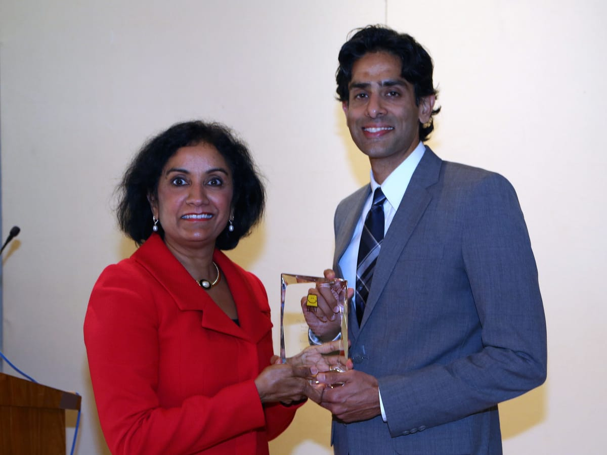 Pratham Holiday Party Annu Naik, Co-Chair with Dr. Sandeep Shah, Keynote Speaker