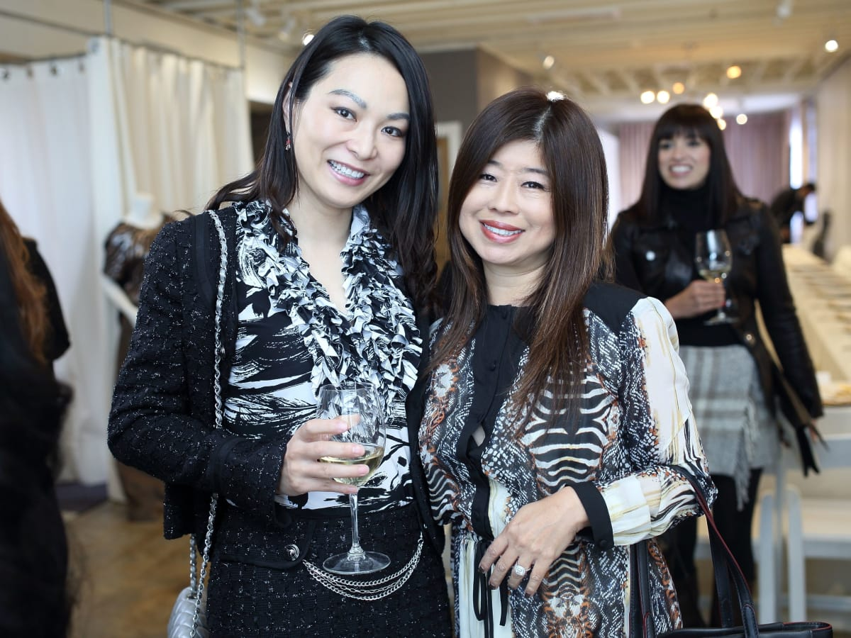 Cynthia Xue, Rose Chen at Miles David fashion show