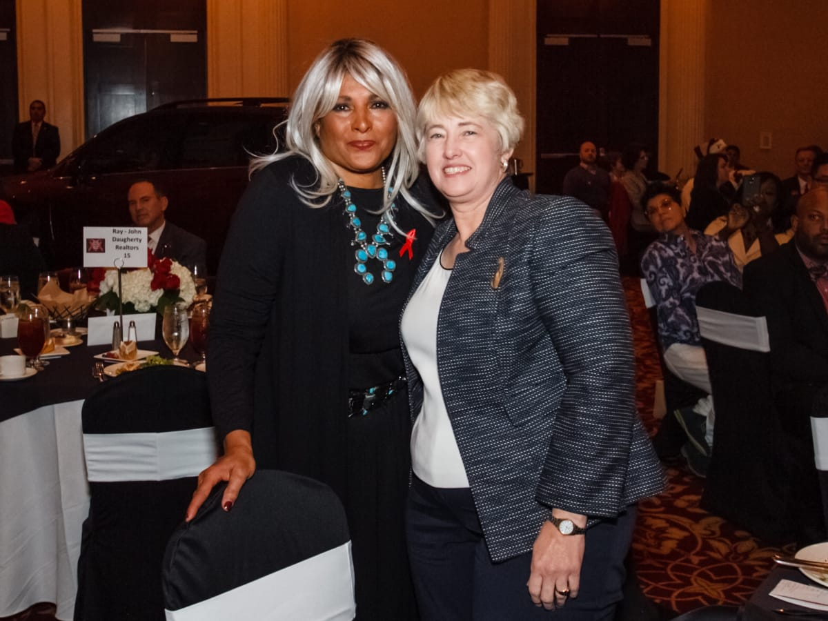 World AIDS Day luncheon Pam Grier, Mayor Annise Parker