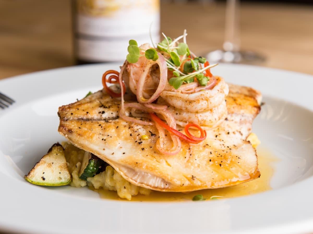 Bernadine's fish and grits