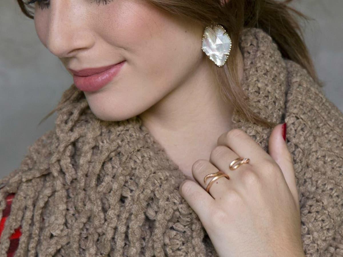 Kendra Scott jewelry Bryce double ring gold Corley earrings 2015