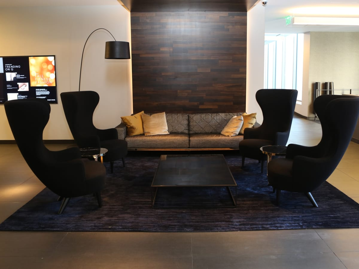 Equinox lounge at River Oaks District
