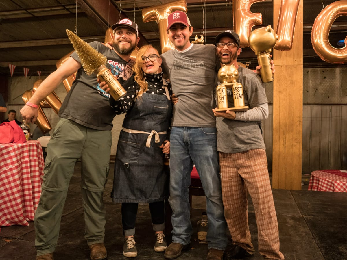 Fearless Foursome winners at Meat Fight 2015