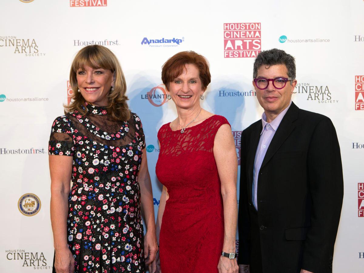 Houston, Cinema Arts Fest opening night, November 2015, Franci Neely, Trish Rigdon, Richard Herskowitz