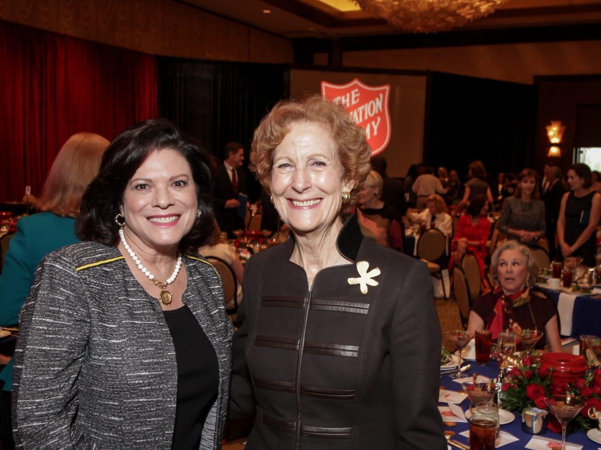 News, Shelby, Salvation Army luncheon, Nov. 2015, Sara Jennings, Susan Baker