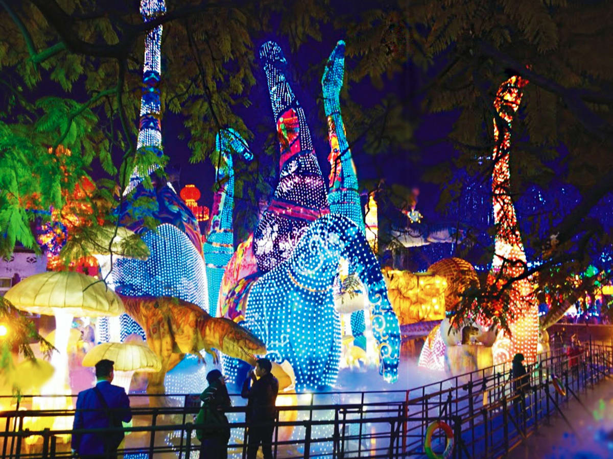 Houston, Magical Winter Lights, November 2015, dinosaur lanterns