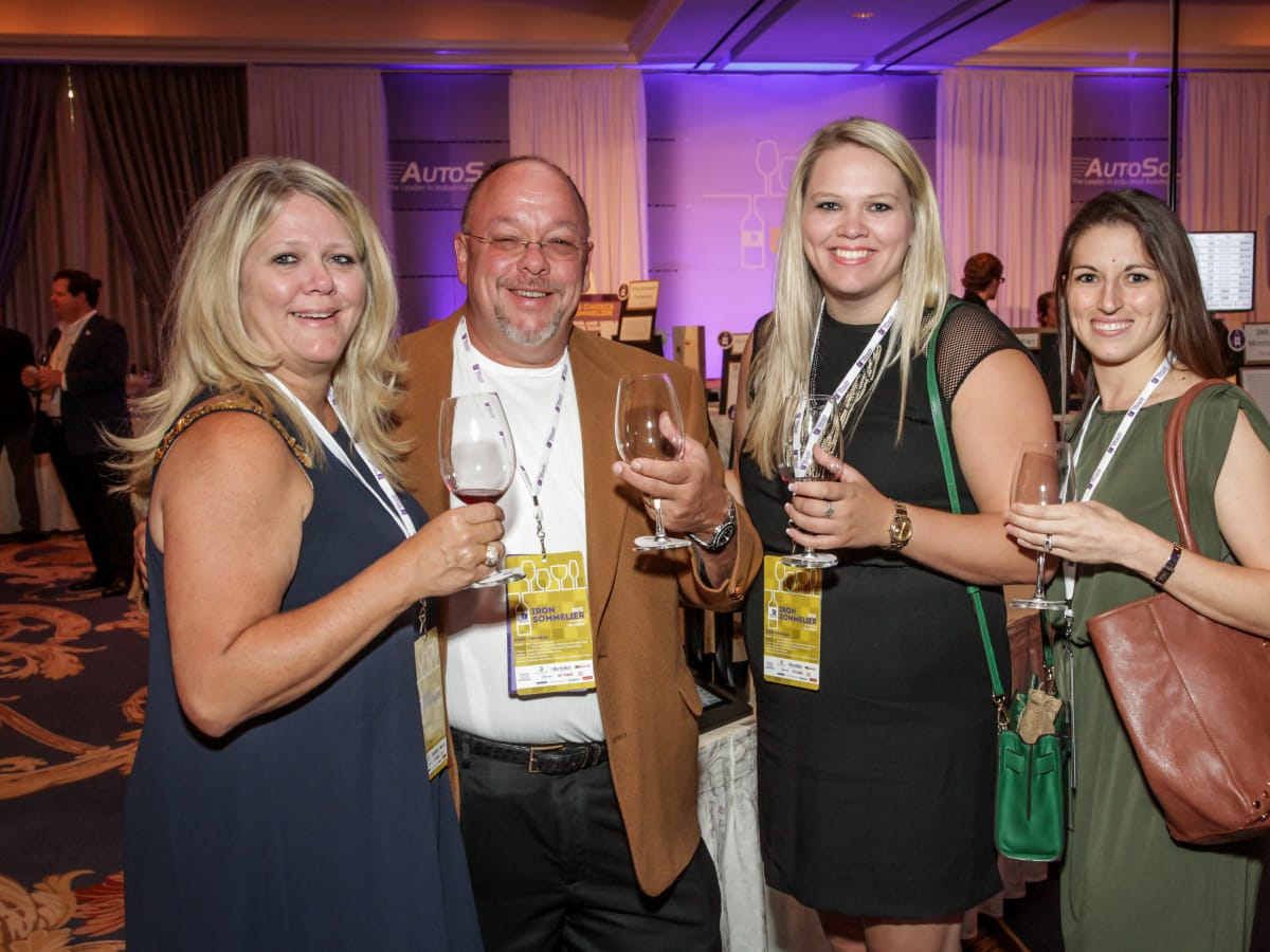 Houston, Periwinkle Foundation Sommelier Competition, September 2015, Anne Clutterbuck, Angie Chang Laureen and Mark Boyer; Chelsea Boyer; Amanda Johnson