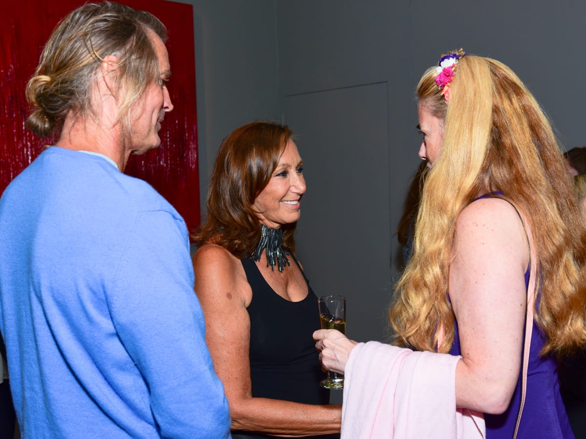 Donna Karan meets guests at Urban Zen party
