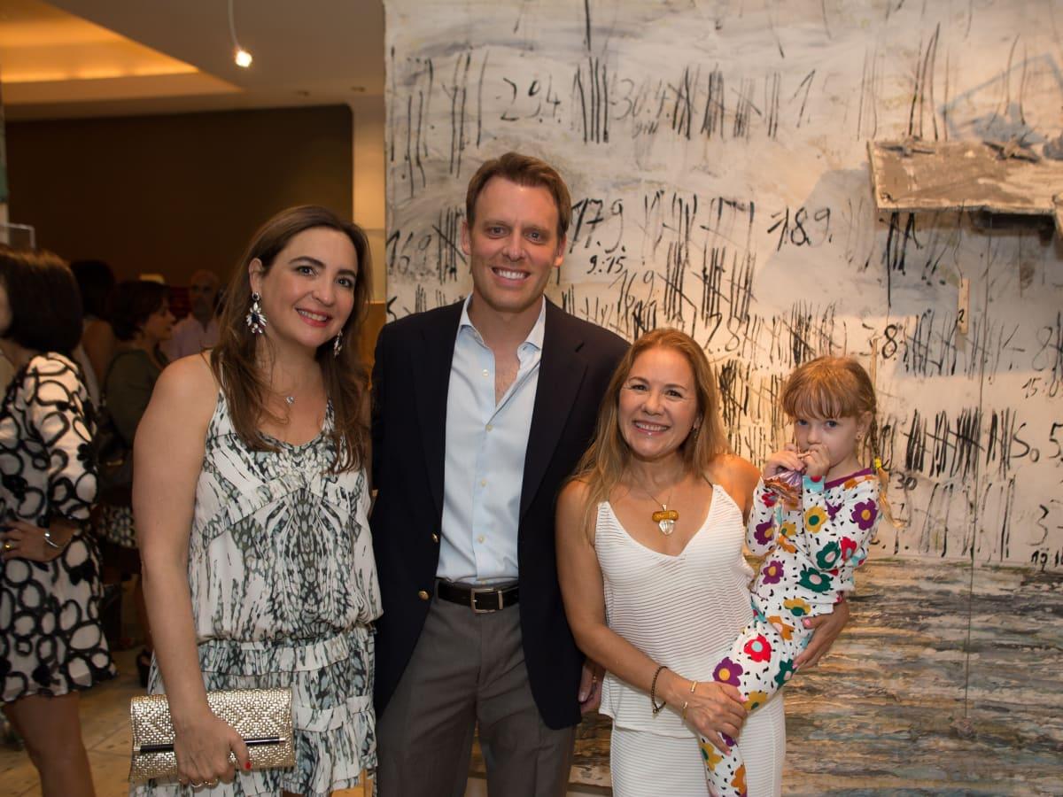 News, Shelby, Fine Art Fair Kick-off, Sept. 2015, Paola & Arturo Creixell, Penelope Marks, Alana Marks
