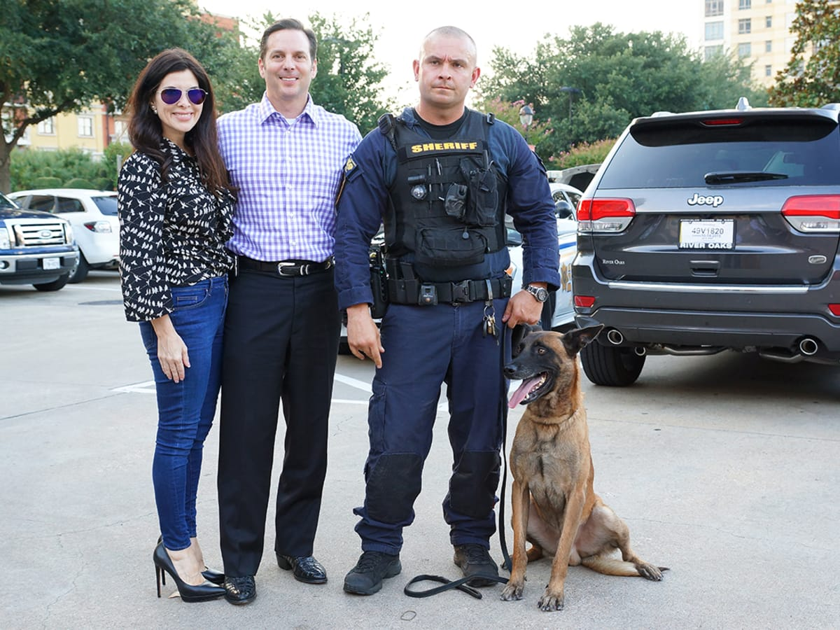 Houston, Unleashed K9's for Cops Kickoff Party, August 2015, Alisa and Kevin Maples, Chris Moore