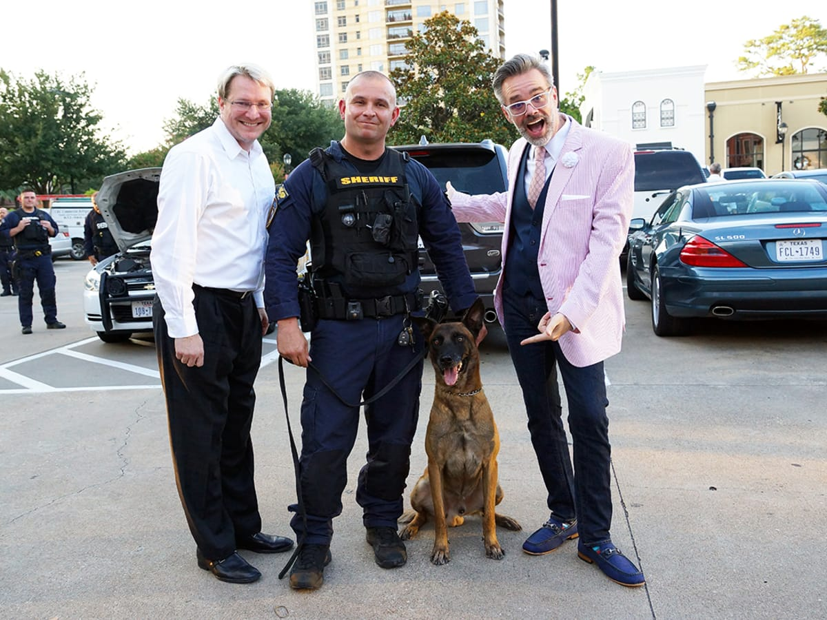 Houston, Unleashed K9's for Cops Kickoff Party, August 2015, Matt Burrus, Chris Moore, Michael Pearce