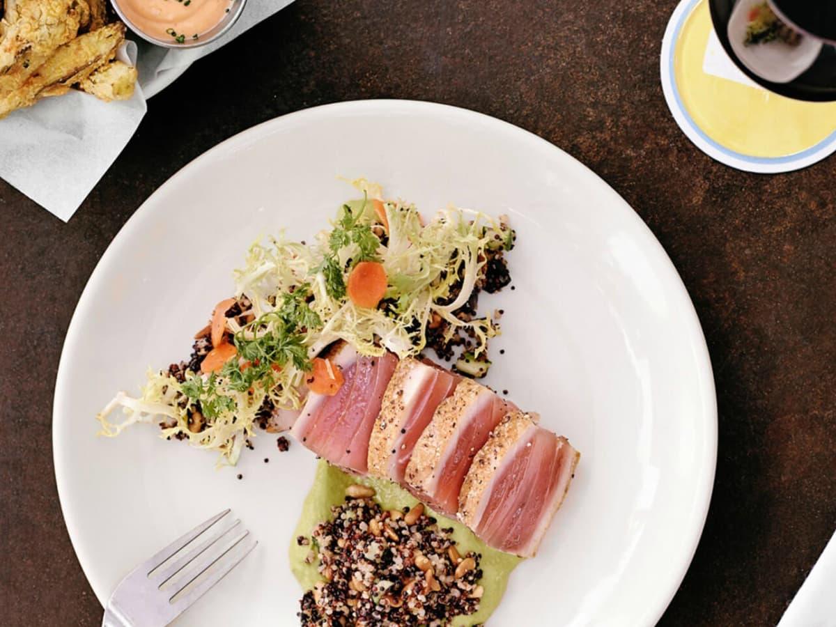 Perla's Seafood and Oyster Bar Austin restaurant dish food
