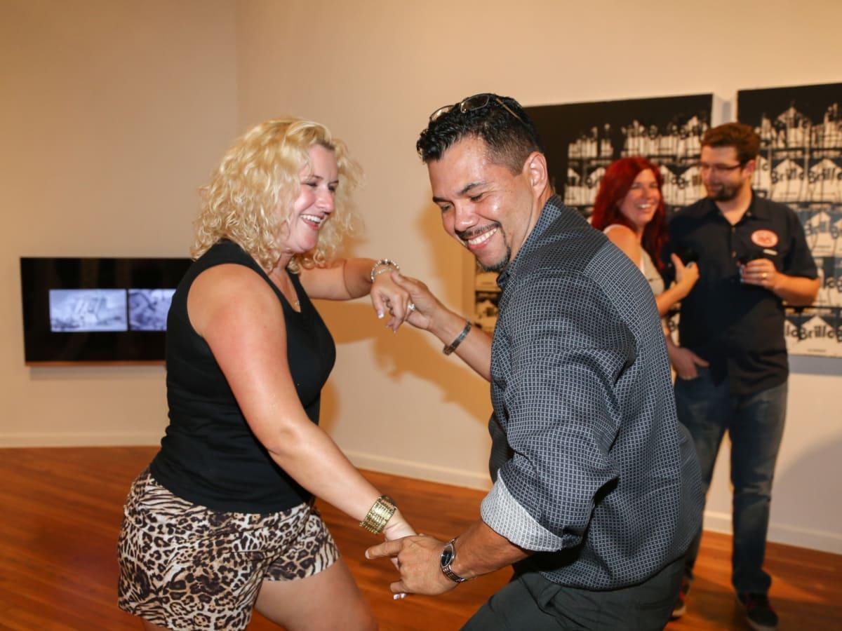 CultureMap Austin Art + Tequila at Mexic-Arte Museum Guests Dancing