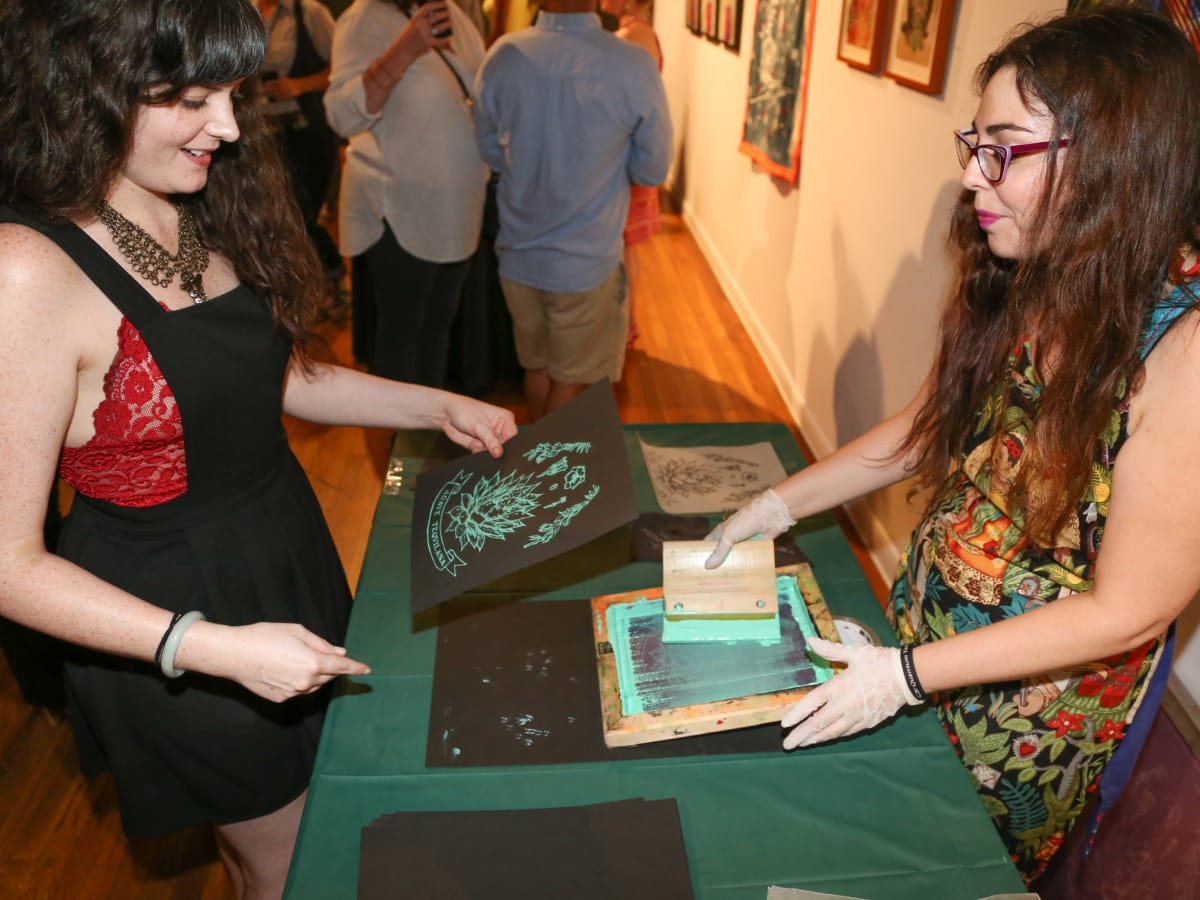 CultureMap Austin Art + Tequila at Mexic-Arte Museum Live Screen Printing