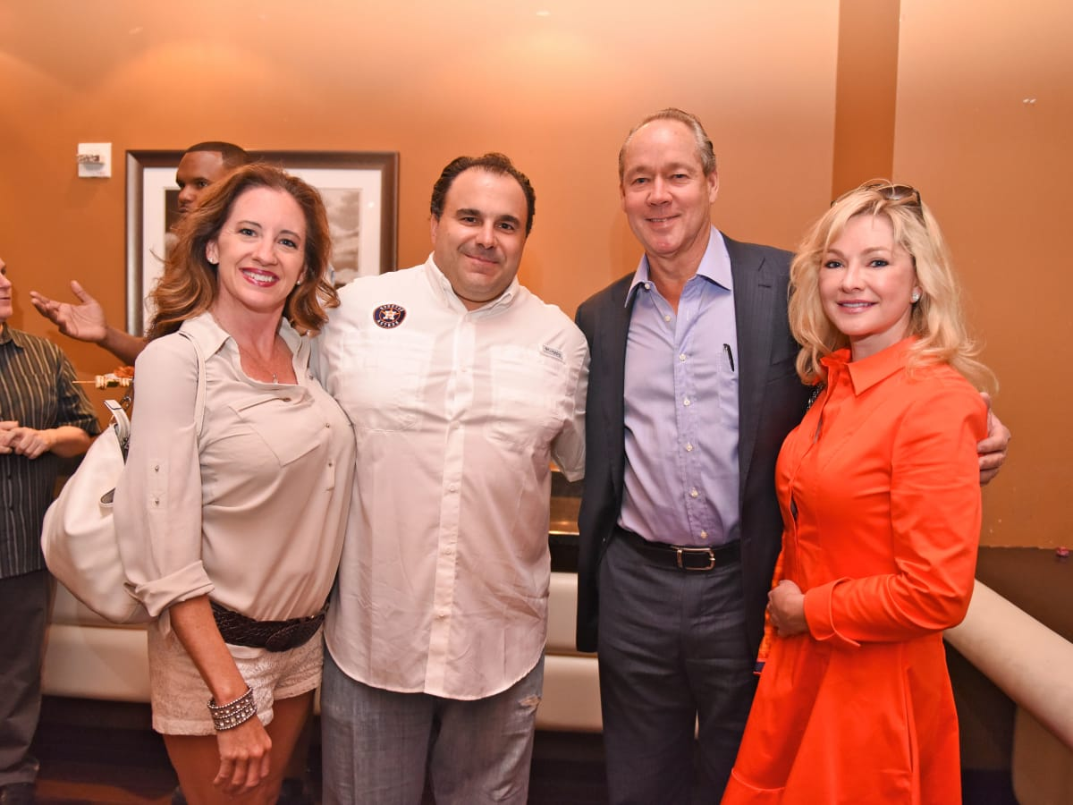 Houston, George Springer All-Star Bowling Benefit, July 2015, Mike & Johanna Chryssiko, Jim Crane, Whitney Wheeler