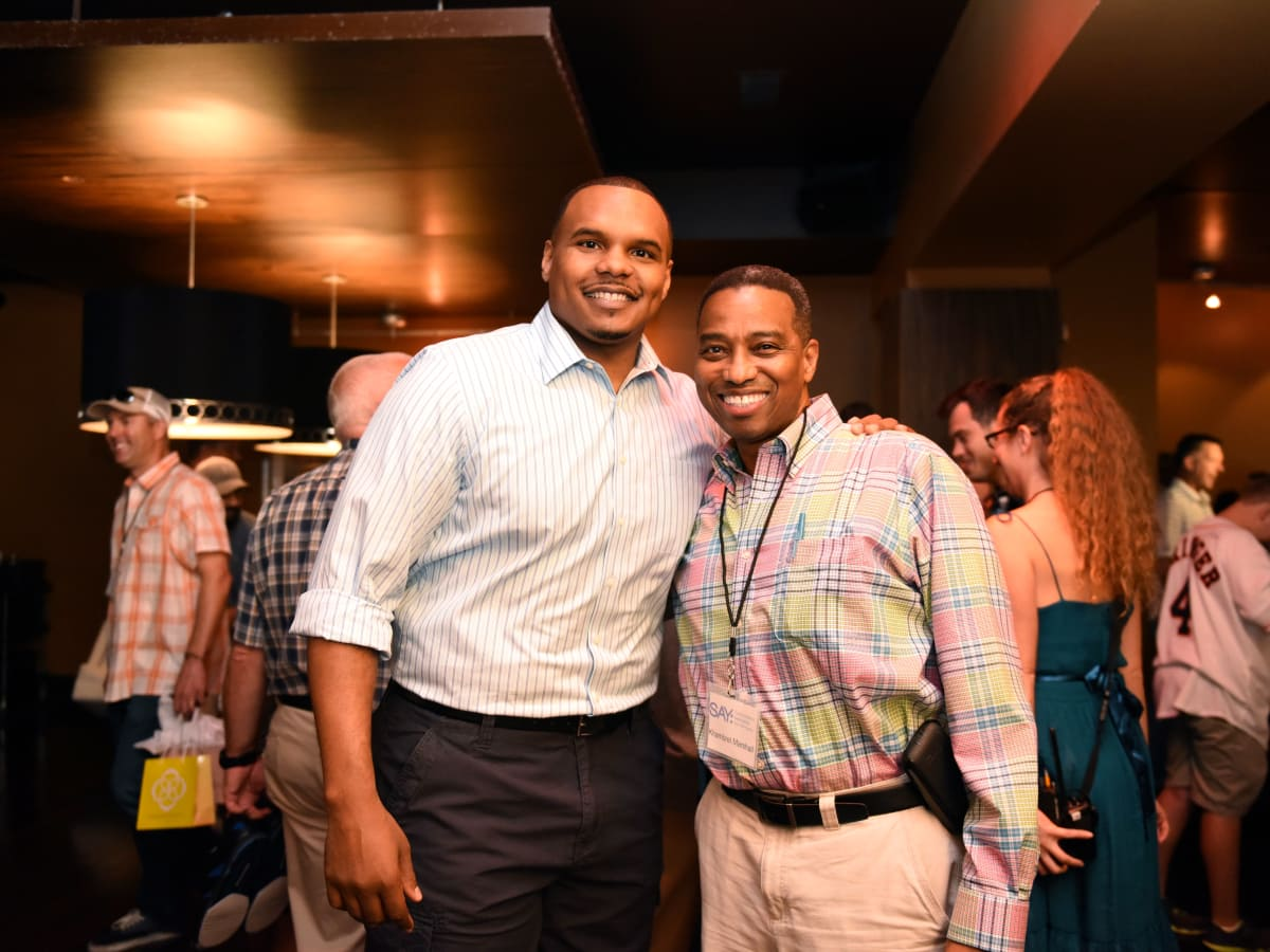 Houston, George Springer All-Star Bowling Benefit, July 2015, Chester Pitts, Khambrel Marshall